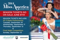 Miss America 2014 Competition Tickets on Sale Now!