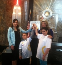 Mallory Hagan Lights Empire State Building for Children's Miracle Network Hospitals' Anniversary