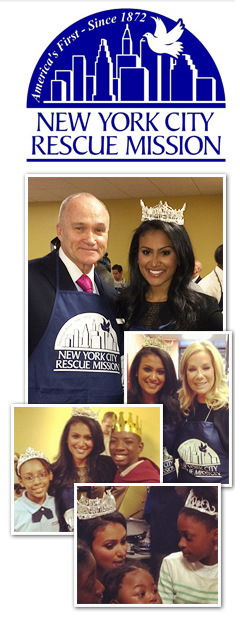 Nina Davuluri Gives Back at the NYC Rescue Mission